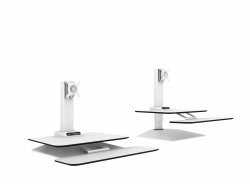 Jet-Line Height-Adjustable Desktop-tower / workstation, white for 1 screen