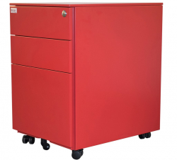 Jet-Line Office Roller-Container, red